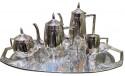 Jugendstil Art Deco Silver Tea and Coffee Set from Germany