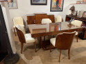 Epstein English Art Deco Dining Table with Cloud Dining Chairs