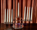 Maison Desny Rare Silver  Modernist Menorah French Art Deco