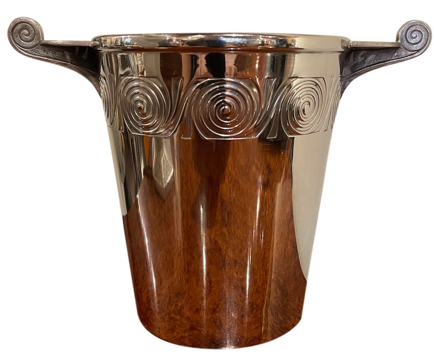 Art Deco Silver Wine Cooler by WMF