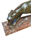 French Art Deco Bronze Panther Statue style of Secondo