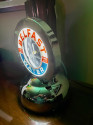 Belfast Glo Dial Sparkling Water Neon Table Clock