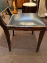 French Modernist Art Deco Macassar Wood Table and 6 Matching Chairs