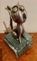 André Vincent Becquerel Cat Sculpture Bronze Art Deco