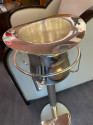 Art Deco Top Hat Champagne Bucket with Matching Stand