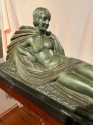 Art Deco Bronze Draped Reclining Woman by Chiparus Darcles