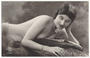 Reclining nude model