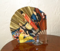 Art Deco French Paper Advertising Fan for Marie Brizard