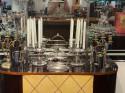 Italian Art Deco Sant Elia Silver Candlestick, 1940s