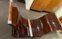 French Art Deco Rosewood Dining Table with Matching Extensions