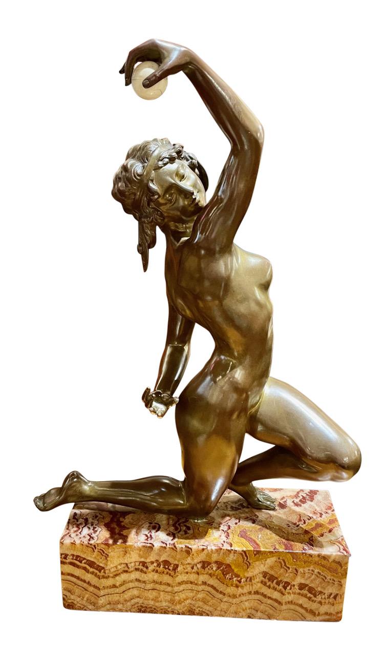Art Deco Bronze Sculpture by Affortunato Gory