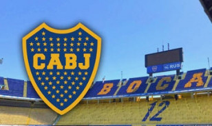 Bronze Large Soccer Plaque Buenos Aires Boca Juniors 1950